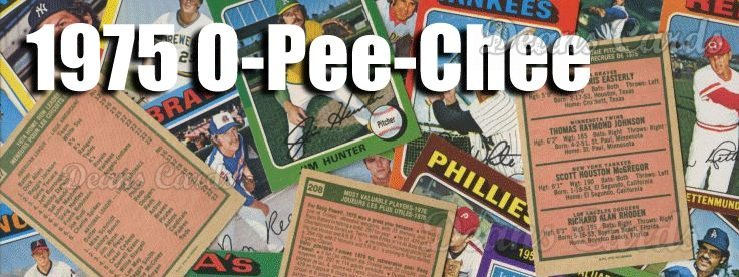 1975 O-Pee-Chee Baseball Cards