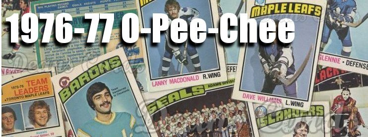 1976-77 O-Pee-Chee NHL Hockey Cards