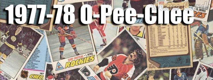 1977-78 O-Pee-Chee NHL Hockey Cards