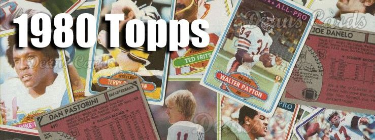 1980 Topps Football Cards
