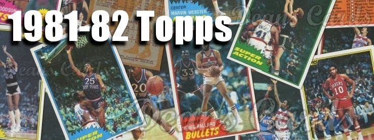 1981-82 Topps Basketball Cards