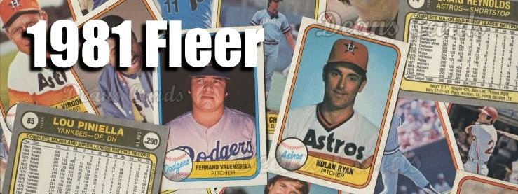 Buy 1981 Fleer Baseball Cards Sell 1981 Fleer Baseball Cards
