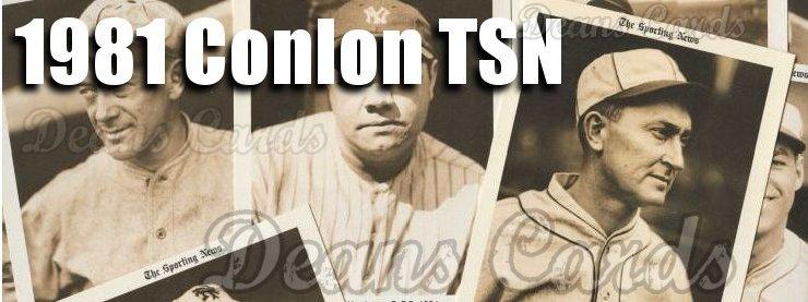 1981 Conlon Baseball Cards