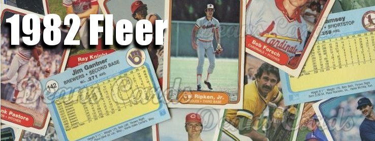 1982 Fleer Baseball Cards