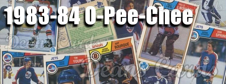 1983-84 O-Pee-Chee Hockey Cards
