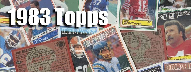 1983 Topps Football Cards