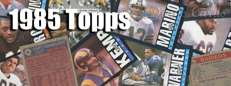 1985 Topps Football Cards