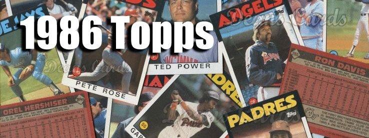 Buy 1986 Topps Baseball Cards Sell 1986 Topps Baseball