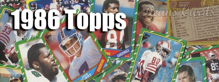 1986 Topps Football Cards