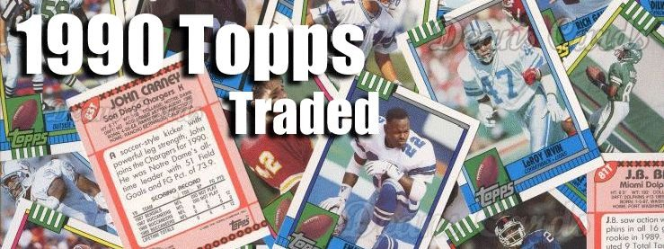 1990 Topps Football Traded Cards