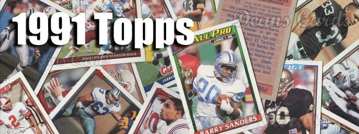 1991 Topps Football Cards