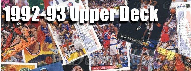 1992-93 Upper Deck Basketball Cards