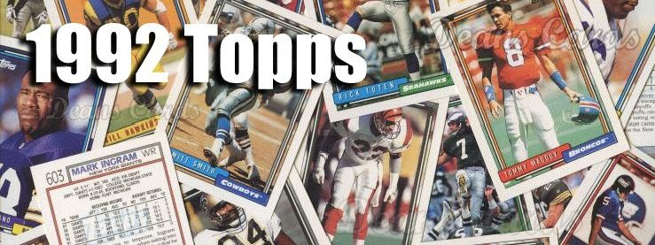 1992 Topps Football Cards