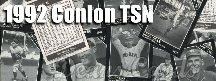 1992 Conlon Baseball Cards