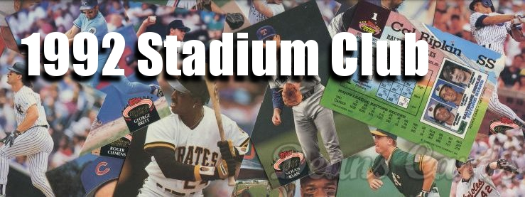 1992 Topps Stadium Club Baseball Cards