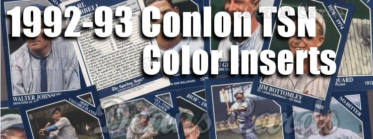 1992-93 Conlon Color Inserts Baseball Cards