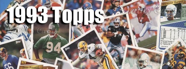 1993 Topps Football Cards
