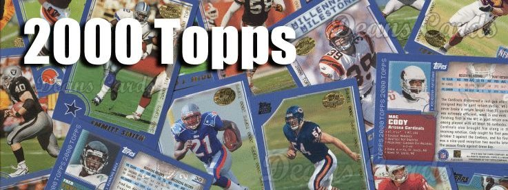 2000 Topps Football Cards