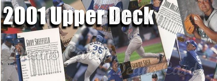 2001 Upper Deck Baseball Cards