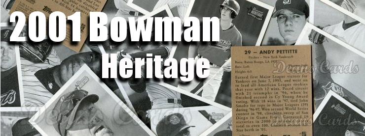 2001 Bowman Heritage Baseball Cards