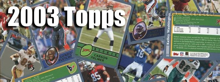 2003 Topps Football Cards