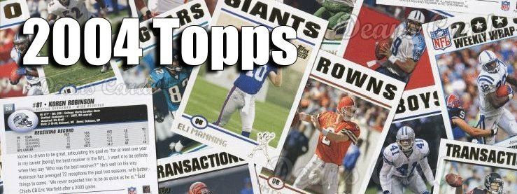 2004 Topps Football Cards