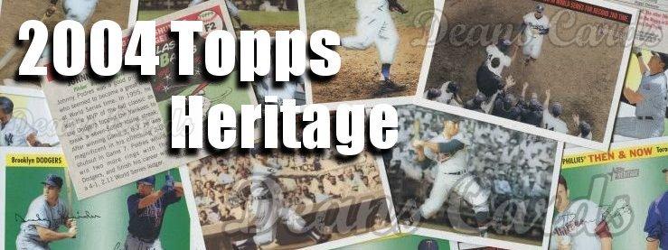 2004 Topps Heritage Baseball Cards