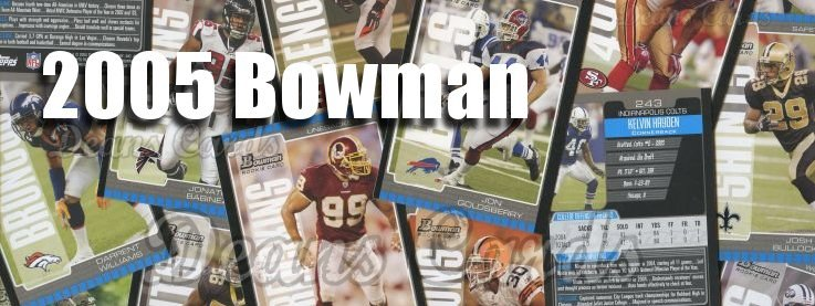 2005 Bowman Football Cards
