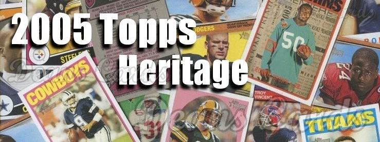 2005 Topps Heritage Football Cards