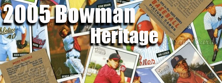 2005 Bowman Heritage Baseball Cards
