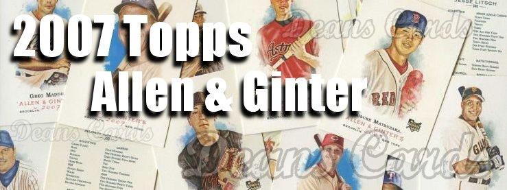 2007 Topps Allen & Ginter Baseball Cards