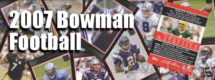 2007 Bowman Football Cards