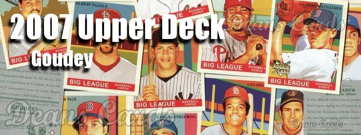 2007 Upper Deck Goudey Green Back Baseball Cards