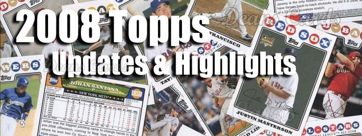 2008 Topps Update Baseball Cards