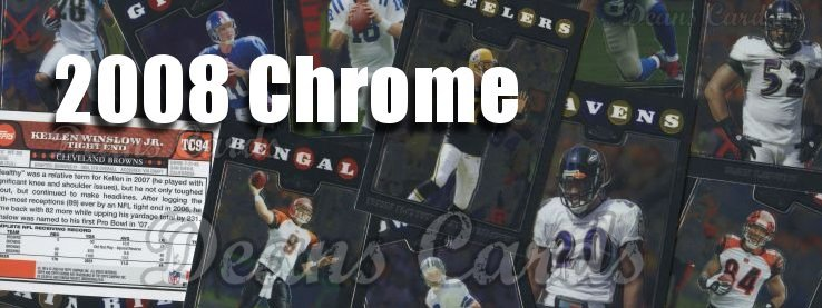 2008 Topps Chrome Football Cards