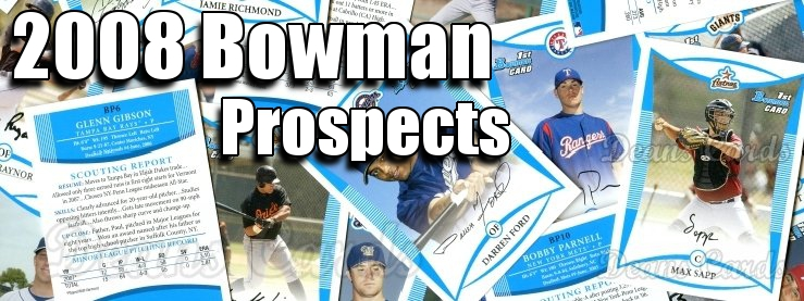 2008 Bowman Prospects Baseball Cards