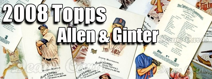 2008 Topps Allen & Ginter Baseball Cards