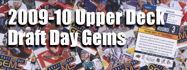 2009-10 Upper Deck Draft Day Gems Hockey Cards