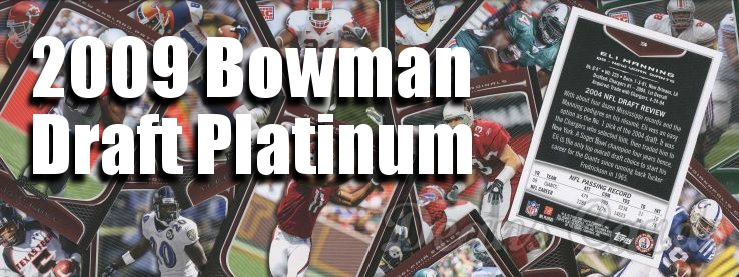 2009 Bowman Draft Platinum Football Cards