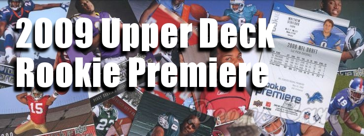 2009 Upper Deck Rookie Premiere Football Cards