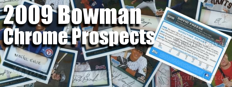 2009 Bowman Chrome Prospects Baseball Cards