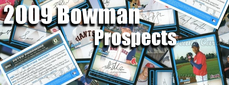 2009 Bowman Prospects Baseball Cards