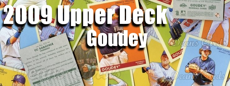 2009 Upper Deck Goudey Baseball Cards