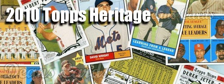 2010 Topps Heritage Baseball Cards