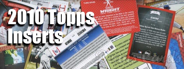 2010 Topps Baseball Insert Cards