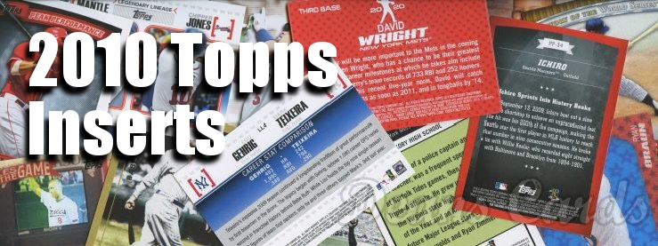 2010 Topps Inserts Baseball Cards