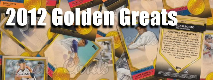 2012 Topps Golden Greats Baseball Cards