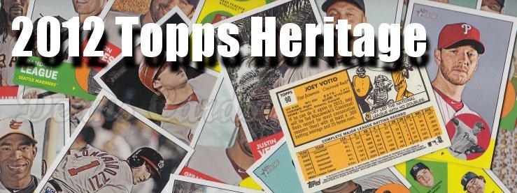 2012 Topps Heritage Baseball Cards