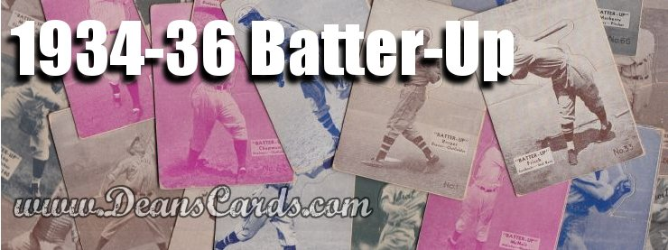 1934-36 Batter-Up (R318) Baseball Cards