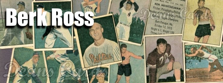 1951 Berk Ross Baseball Cards
